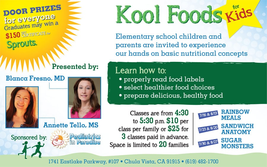 Kool Foods For Kids! Check Out Our Great Event Coming Up!
