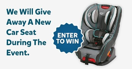 Enter to win a free car seat at our event